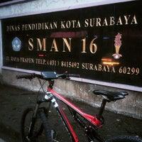 Photo taken at SMA Negeri 16 Surabaya by Sofian K. on 2/1/2015