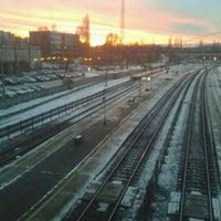 Photo taken at Tatabánya vasútállomás by Eszti T. on 1/7/2013
