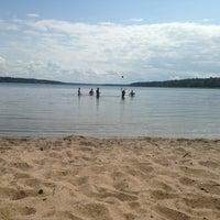 Photo taken at Пляж (Другой Берег) by Valya🍒 E. on 7/6/2013
