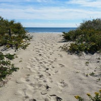 Photo taken at Hancock Beach by Brian C. on 10/10/2015