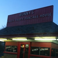 Photo taken at Bunnies Hasty Tasty Pancake House by Chelsea on 12/23/2012