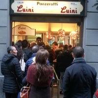 Photo taken at Luini by Elisabetta N. on 11/25/2012