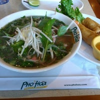 Photo taken at Pho Hoa Noodle Soup by Miles G. on 3/4/2013