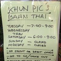 Photo taken at Kuhn Pic's Bahn Thai by Rosabella D. on 4/24/2013