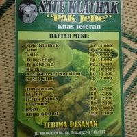 """Photo taken at Sate Klathak """"Pak Jede"""" Khas Jejeran by A. Damardono on 12/8/2013"""