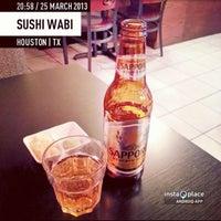 Photo taken at Sushi Wabi by Tony B. on 3/26/2013