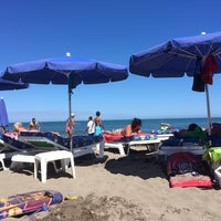 Photo taken at Playa Marina Beach by Sergio J. on 6/29/2014