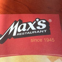 Photo taken at Max's Restaurant by Alma on 9/29/2012