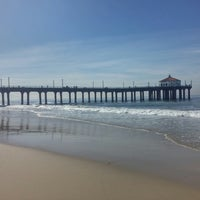 Photo taken at Manhattan Beach by Fran K. on 2/12/2014