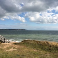 Photo taken at Hordle Cliff West by Nathan S. on 8/17/2014