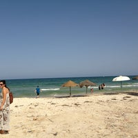 Photo taken at Soussa beach by Osama A. on 9/7/2013