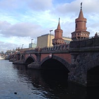 Photo taken at Oberbaumbrücke by Lori D. on 11/22/2012