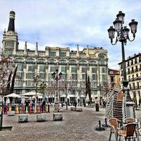 Photo taken at Plaza de Santa Ana by Vicente M. on 2/10/2013