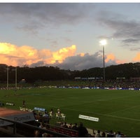 Photo taken at Brookvale Oval by Adam G. on 3/21/2016