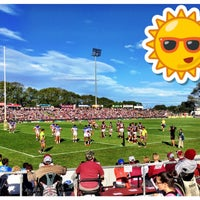Photo taken at Brookvale Oval by Adam G. on 5/10/2015