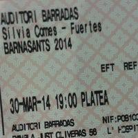 Photo taken at Auditori Barradas by Jordi G. on 3/30/2014