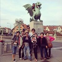 Photo taken at Zmajski most / Dragon Bridge by Kanyaphat T. on 10/5/2012