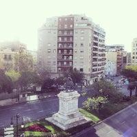 Photo taken at Plaça d'Espanya by Ximena C. on 6/1/2013