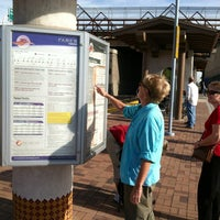 Photo taken at Rail Runner: Los Ranchos/Journal Center by Nancy on 10/9/2012