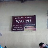 Photo taken at warung makan bu wahyu by Yopie P. on 8/31/2014