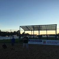 Photo taken at Elagin Volleyball Beach Resort by Irina Z. on 8/12/2016