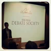 Photo taken at SSE Riga | Stockholm School of Economics by Anna M. on 10/13/2012