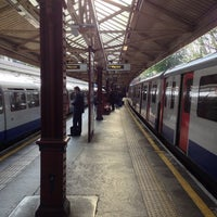 Photo taken at Barons Court London Underground Station by Sam on 6/6/2013