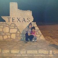 Photo taken at Oklahoma / Texas Border by Saleena on 1/3/2013