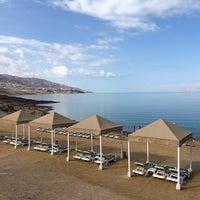 Photo taken at Dead Sea Beach (Holiday Inn Resort) by Ilan B. on 5/9/2018