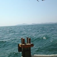 Photo taken at Palm beach by Belkıs Ç. on 8/14/2013