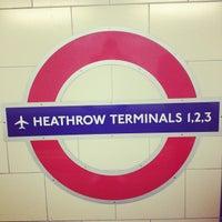 Photo taken at Heathrow Airport Terminals 1, 2 & 3 London Underground Station by Bruno C. on 10/24/2012