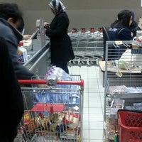 Photo taken at Carrefour Market Manouba by Raya on 2/9/2013