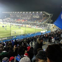 Photo taken at Stadio Silvio Piola by Ivano on 12/23/2012