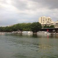 Photo taken at Paris Plages – Bassin de la Villette by Irishka S. on 7/21/2016