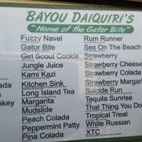 Photo taken at Bayou Daiquiris by Brenda &. on 7/2/2014