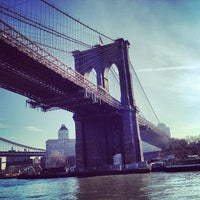 Photo taken at Brooklyn Bridge Promenade by Victoria A. on 2/1/2013