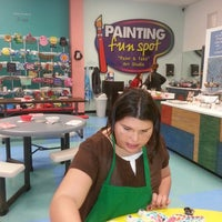 Photo taken at Painting Fun Spot by shelley d. on 10/31/2013