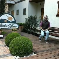 Photo taken at Pousada Santha Serra by Rafael O. on 9/13/2013