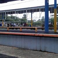Photo taken at Stasiun Depok Baru by Azizah Z. on 1/14/2013
