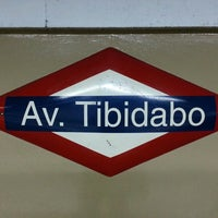 Photo taken at FGC Av. Tibidabo by Maider on 10/27/2013