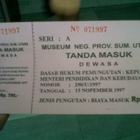 Photo taken at Museum Sumatera Utara by Ranny K. on 9/22/2012