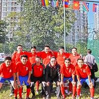 Photo taken at Jianwai SOHO Basketball Court by ГЭРЭЛТ-ОД on 4/1/2013