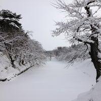Photo taken at Hirosaki Park by sseijuro on 1/1/2013