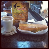 Photo taken at Aguila Sandwich Shop by Mikey F. on 9/14/2012
