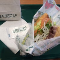 Photo taken at Subway by k a. on 1/27/2014