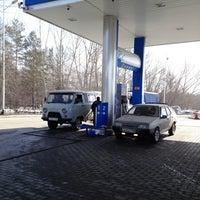 Photo taken at Газпромнефть АЗС № 97 by universo f. on 4/9/2013