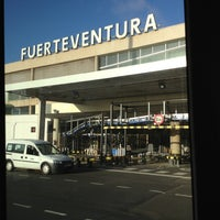 Photo taken at Aeropuerto de Fuerteventura (FUE) by Caramba on 10/22/2012