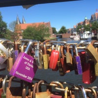 Photo taken at Liebesbrücke by Christian S. on 6/10/2015