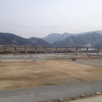 Photo taken at 동강둔치공원 by Hana L. on 2/24/2013