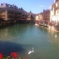 Photo taken at Canal du Thiou by Yann on 9/16/2012
